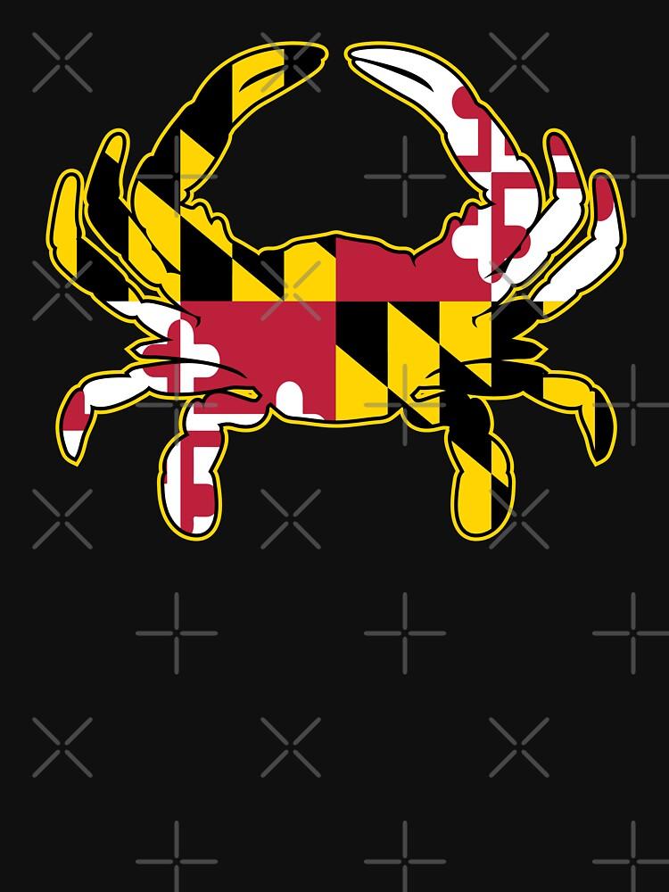Maryland Flag Crab Illustration by hobrath