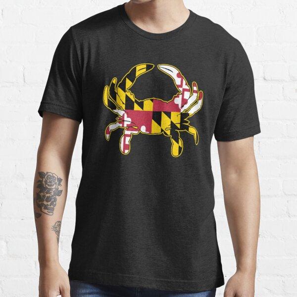 Maryland Flag Crab Illustration Essential T-Shirt