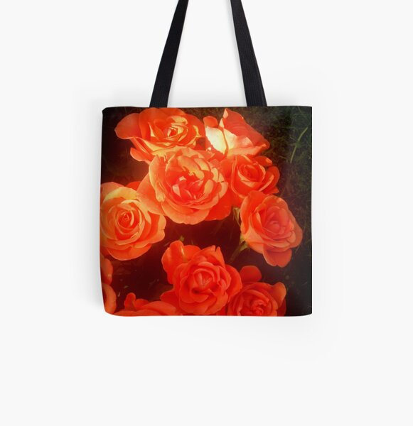 Roses All Over Print Tote Bag