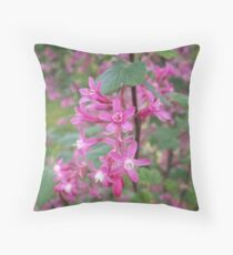 Flowering Black Currant Throw Pillow