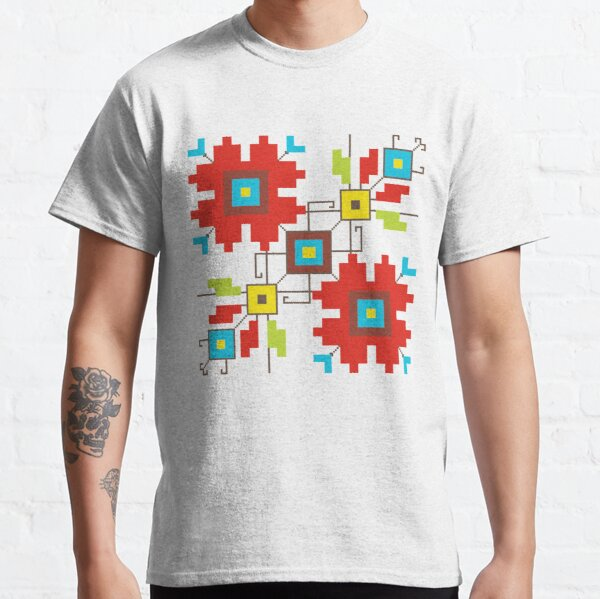 Geometric flowers Classic T-Shirt
