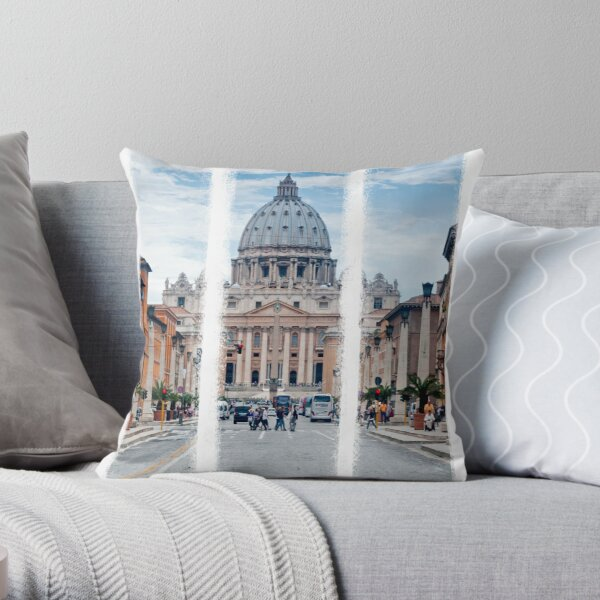 St Peter's, Rome (Triptych) Throw Pillow