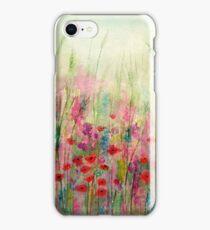 'Spring Meadow' - original watercolour 2015 iPhone Case/Skin