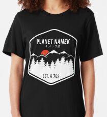 Dragon Ball Z Planet Namek Mountain Range Slim Fit T-Shirt