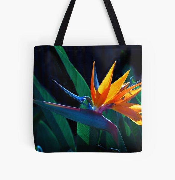 Bird of Paradise flower (Strelitzia nicolai) All Over Print Tote Bag