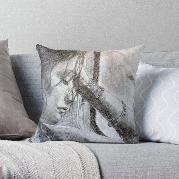 a long ride home - drawn Throw Pillow