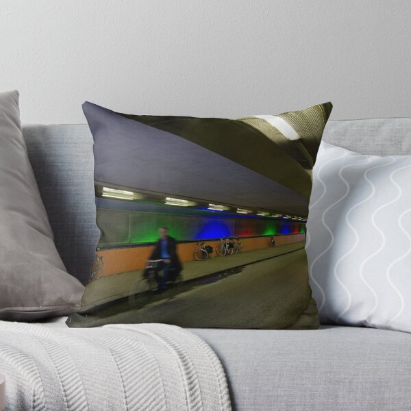 Tunnel of Lights - Utrecht, The Netherlands Throw Pillow