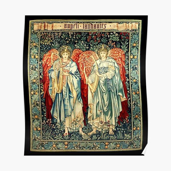 Arts and Crafts Movement. Angeli Laudantes. By Artist Edward Burne-Jones. Poster