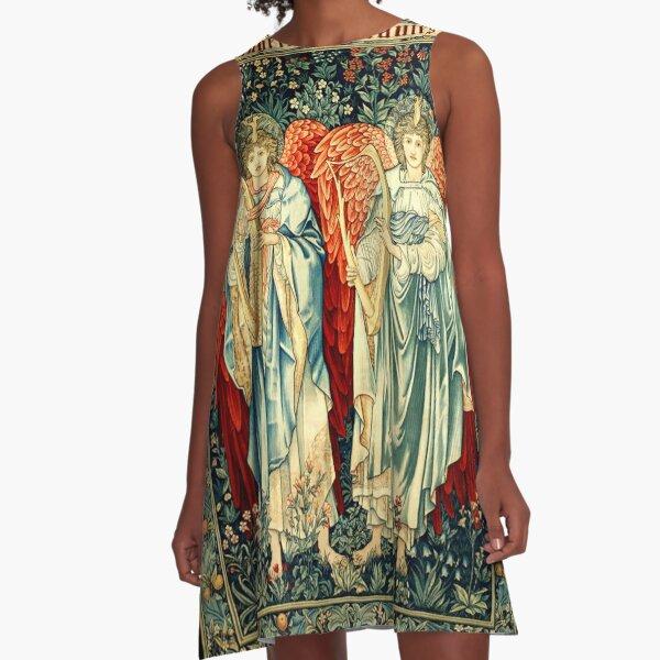 Arts and Crafts Movement. Angeli Laudantes. By Artist Edward Burne-Jones. A-Line Dress