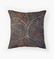 Tree of Life ( golden ) Throw Pillow