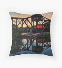Heading Down The Line Throw Pillow