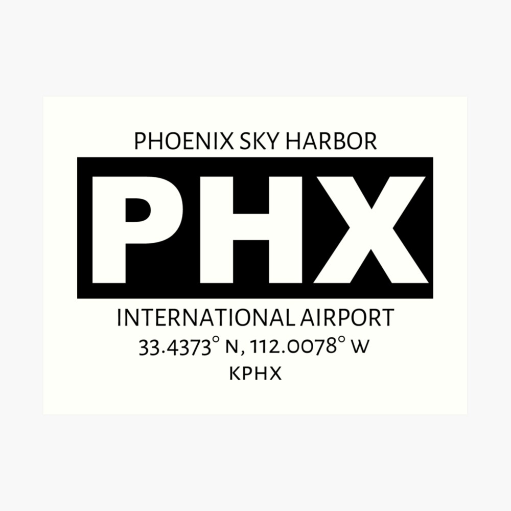 Phoenix Sky Harbour International Airport PHX Art Print