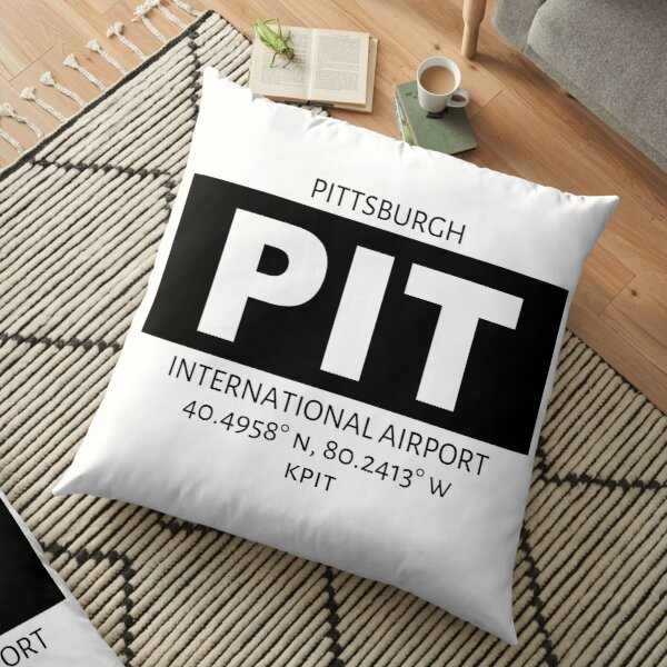 Pittsburgh International Airport PIT Floor Pillow