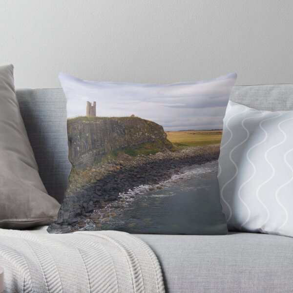 Dunstanburgh Castle Pano Throw Pillow