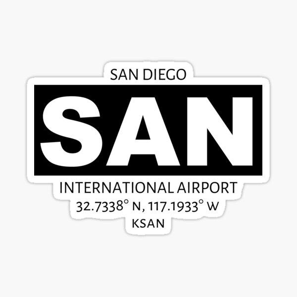 San Diego International Airport SAN Sticker