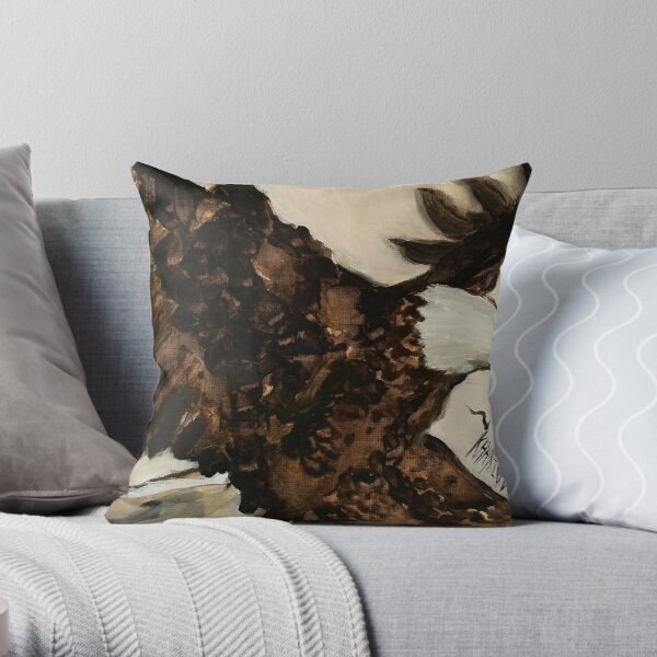 Aerial Hunter - Eagle Painting Throw Pillow