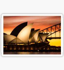 Sydney Icons Sunset Sticker