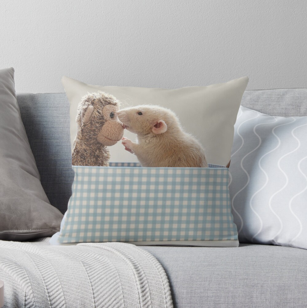 Poppy and friend Throw Pillow