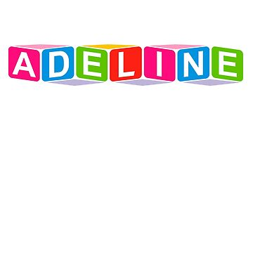Hello My Name Is Adeline Name Tag by efomylod