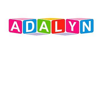 Hello My Name Is Adalyn Name Tag by efomylod