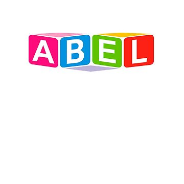 Hello My Name Is Abel Name Tag by efomylod