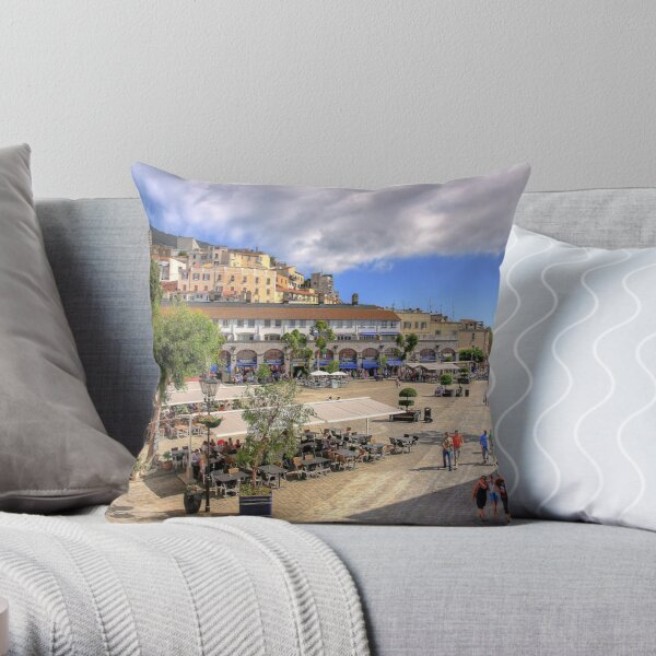 Casemates Square Throw Pillow