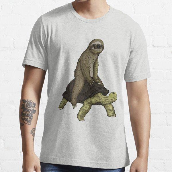 Sloth Turtle Shirt Speed is Relative Sloth Riding Tortoise Essential T-Shirt