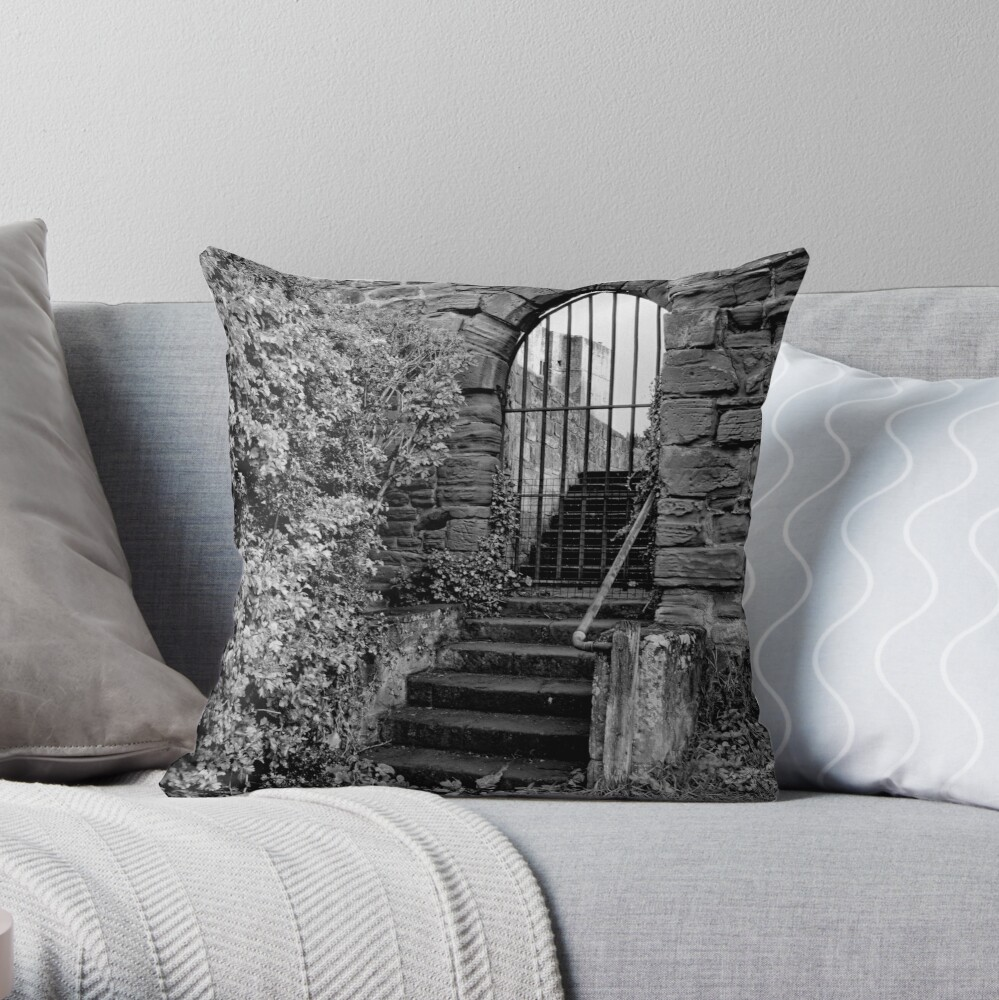 Sneak in the back entrance - Kenilworth - Britain Throw Pillow