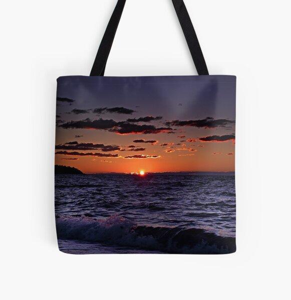 """""""Seaside Sundown"""" All Over Print Tote Bag"""
