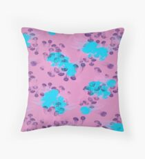 Psychedelic Jellyfish Purple (Medusa V.2) Throw Pillow