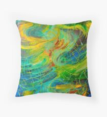 Cojín NAUTICAL GALAXY - Beautiful Aquatic Blue Green Ocean Universe Abstract Painting Gift Decor