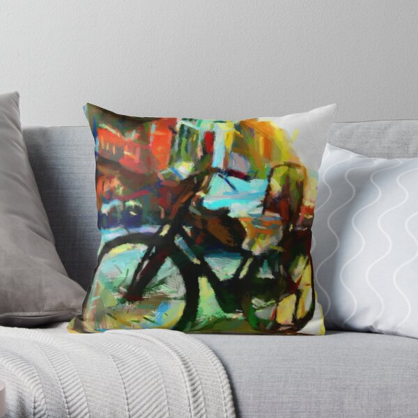 The Daily Commuter Throw Pillow