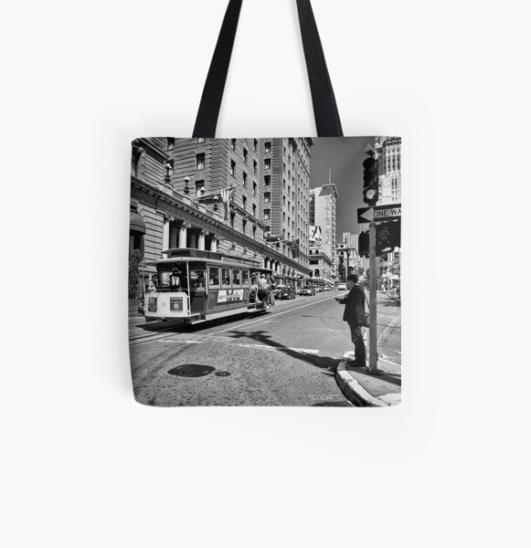 One way waiting - San Francisco All Over Print Tote Bag