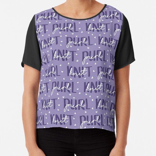 Knit Purl Chiffon Top