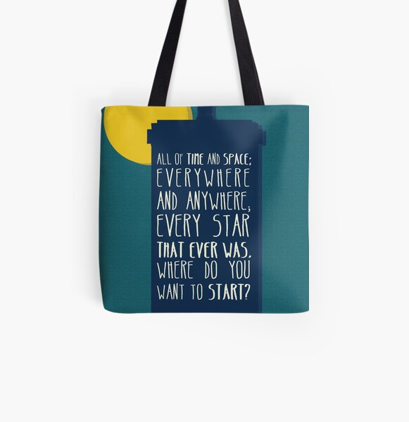 All Of Time And Space All Over Print Tote Bag