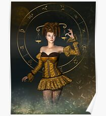 Libra fantasy zodiac sign Poster