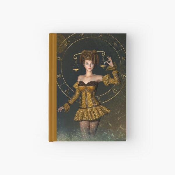 Libra fantasy zodiac sign Hardcover Journal