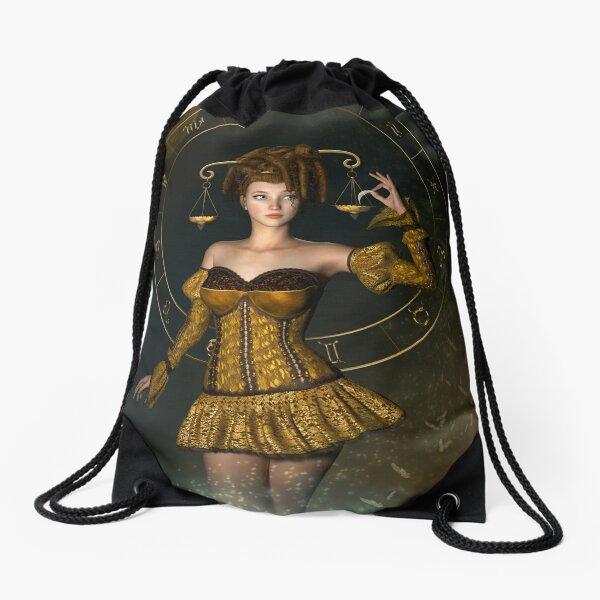 Libra fantasy zodiac sign Drawstring Bag