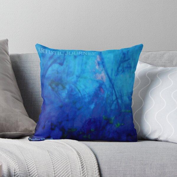 """My book """"An artistic journey"""" Throw Pillow"""