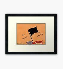 The Black Flag Framed Print