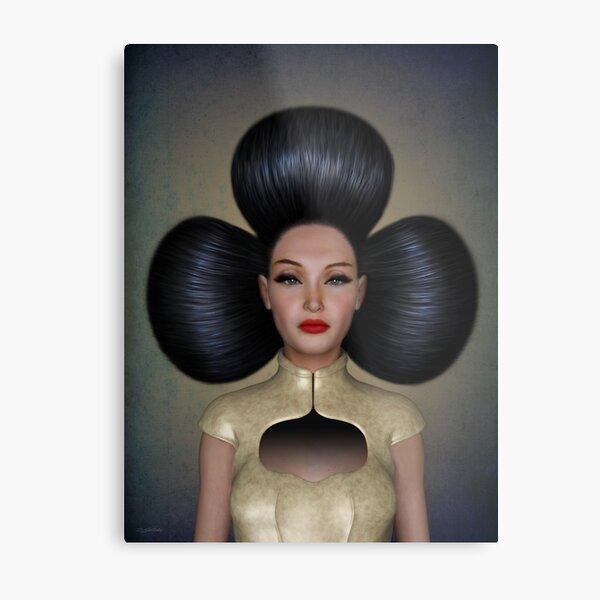 Queen of clubs portrait Metal Print