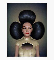 Queen of clubs portrait Photographic Print