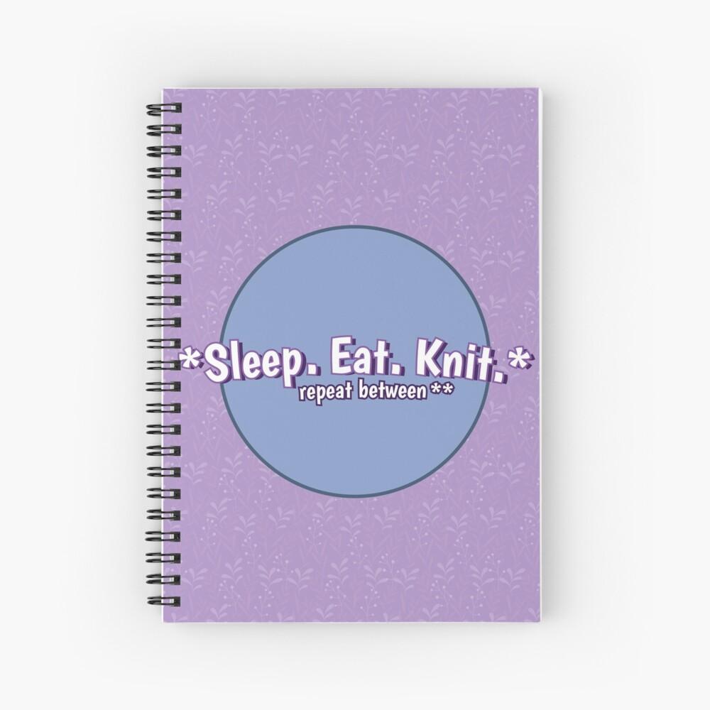 Sleep Eat Knit Spiral Notebook