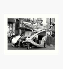 Bike taxi - the alternative city transport Art Print