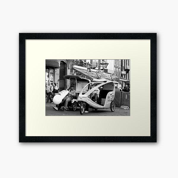 Bike taxi - the alternative city transport Framed Art Print