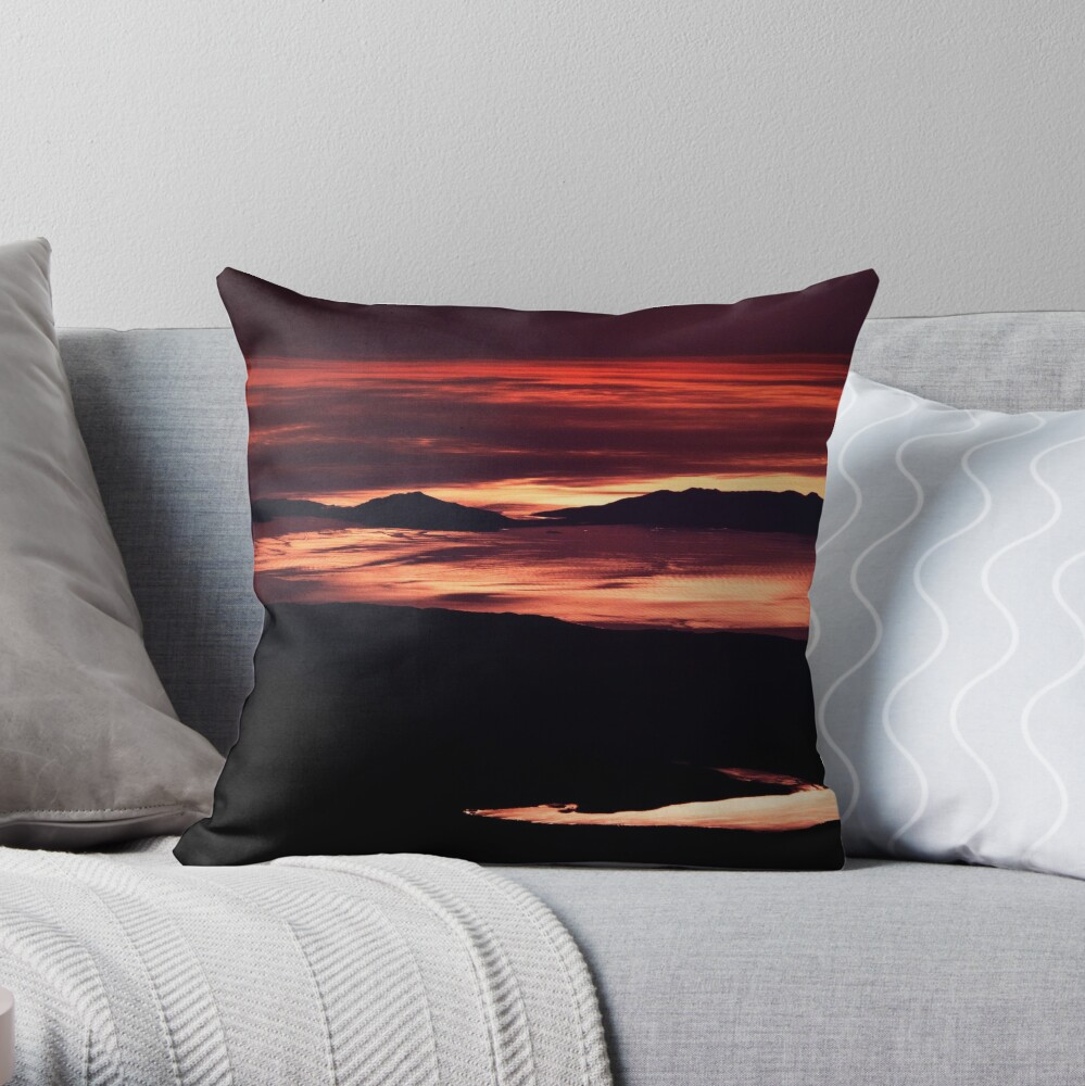 Tasmania from an Airbus - Coles Bay and Lake Leake Throw Pillow