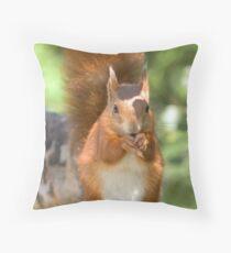 Pretty squirrel is pretty Throw Pillow