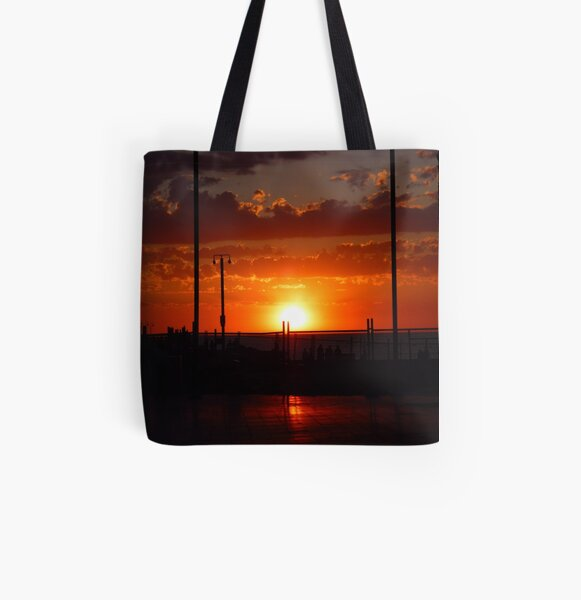 fiery glow All Over Print Tote Bag