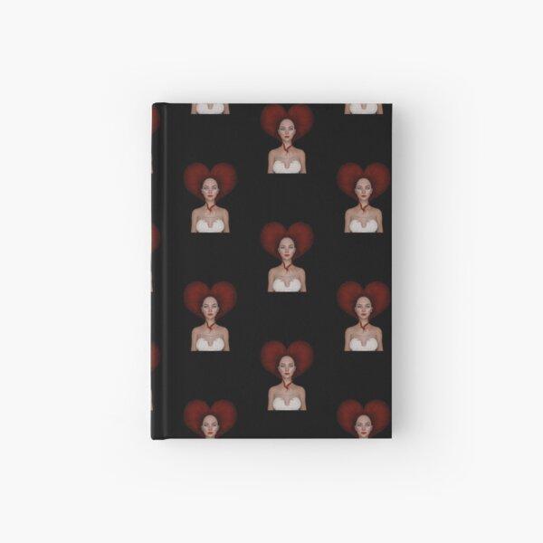 Queen of hearts portrait Hardcover Journal