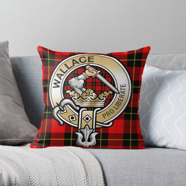 Wallace Clan Crest Throw Pillow